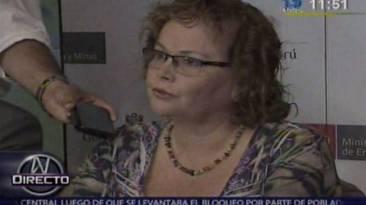 Ministra Ortiz: Presidente de Southern negó fin de Tía María