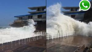 Vía WhatsApp: enormes olas golpearon playa Poseidón [VIDEO]