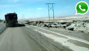 WhatsApp: huaico dañó parte de carretera hacia Arequipa [FOTOS]