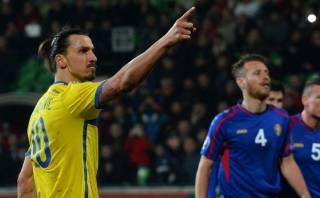 Zlatan Ibrahimovic anotó gol insólito para Suecia