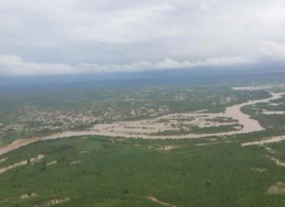 Desborde del río Tumbes inunda más de 7.500 hectáreas