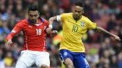 Brasil venció 1-0 a Chile en partido amistoso jugado en Londres