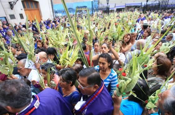 Fe de limeños se evidenció en el Domingo de Ramos [Fotos]