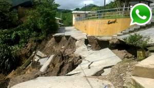 WhatsApp: este es el daño en Cajamarca tras intensas lluvias