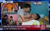 Mujer que en estado de coma dio a luz a bebe fue dada de alta