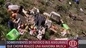 Vuelco de bus en vía Nasca-Puquio dejó 21 muertos y 39 heridos