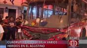 El Agustino: chofer salvó de morir en cuádruple choque