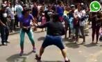 WhatsApp: ambulantes en Gamarra se agarran a golpes por espacio