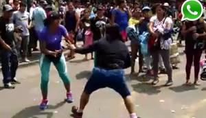 WhatsApp: ambulantes de Gamarra se agarran a golpes por espacio