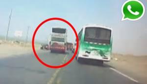 WhatsApp: bus a más de 100 km/h pudo provocar tragedia