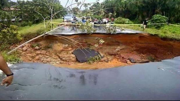 Carretera Iquitos-Nauta colapsa y se desploma en varios tramos