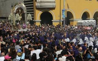 Semana Santa: Señor de los Milagros recorre el Centro Histórico