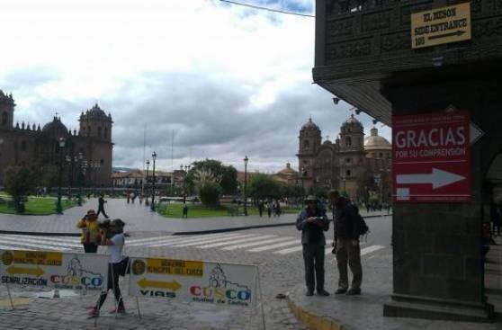 Cusco: sigue plan para peatonalizar perímetro de plaza de armas