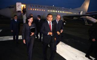 Ollanta Humala llegó a Panamá para la Cumbre de las Américas