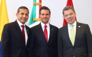 Ollanta Humala se reunió con presidentes de México y Colombia