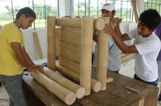 Construyen viviendas de bambú adaptadas al cambio climático