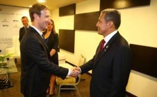Ollanta Humala se reunió con CEO de Facebook Mark Zuckerberg