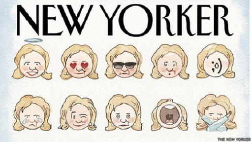 The New Yorker muestra unos diseños de emoji de Hillary Clinton en su portada de marzo.