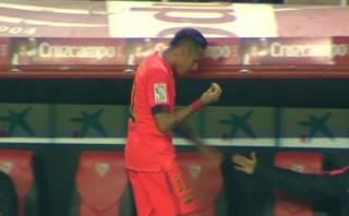 Neymar: TV mostró lo que dijo y toda su bronca al ser cambiado