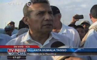 """Humala: Gobierno aprista sí aplicó """"piloto automático"""""""