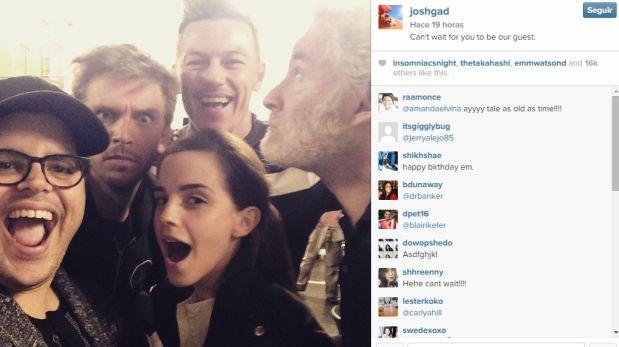 Al centro de la imagen aparece Emma Watson, quien tendrá el rol protagónico de Bella. (Foto: Instagram)