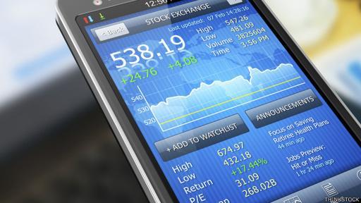 Esta aplicación informa del precio de las acciones a tiempo real, entre otras cuestiones.