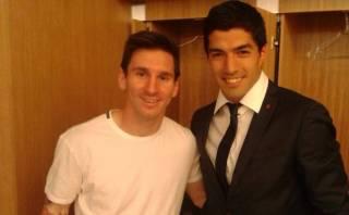 Lionel Messi saludó a Suárez vía Facebook por sus dos goles