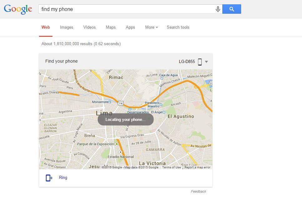 [Foto] Google permite encontrar tu celular Android desde su buscador