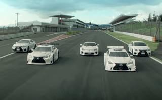 YouTube: Cinco Lexus deportivos danzan en circuito japonés