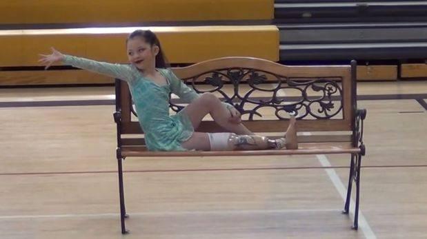 YouTube: Alissa, la bailarina de ocho años de una sola pierna