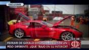 Investigan si Oropeza utilizó Ferrari para traer dinero ilegal