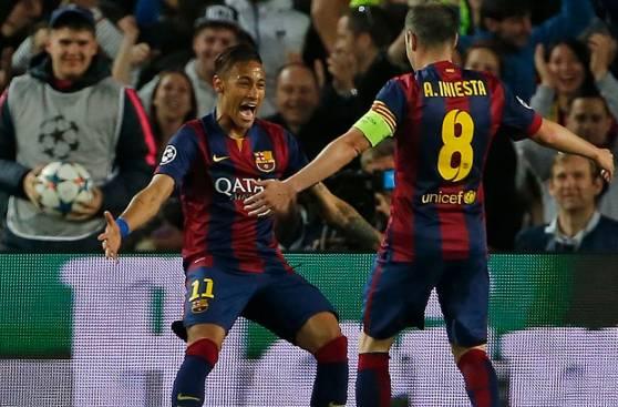 Barcelona: Neymar y su gran alegría tras doblete en Champions