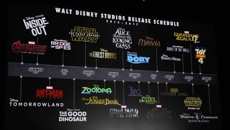 Las películas que alista Disney hasta el 2017