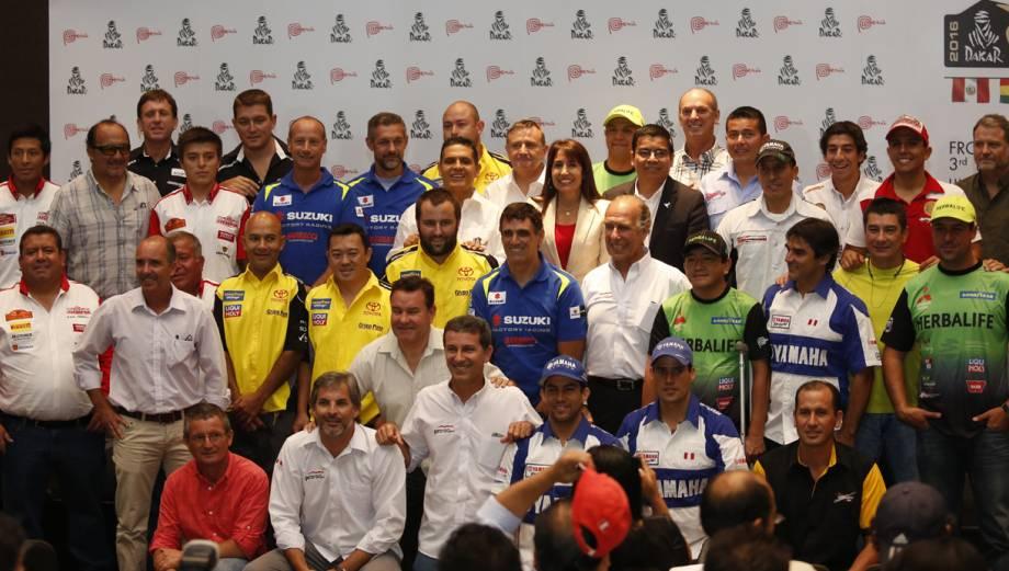 Dakar 2016: autoridades y pilotos presentaron el rally en Lima