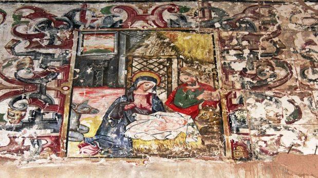 Cripta y pintura mural fueron descubiertas en Cusco