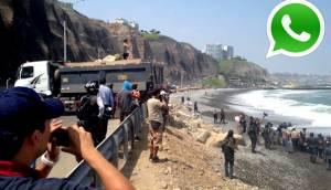 WhatsApp: enfrentamiento por rocas en playa La Pampilla [VIDEO]