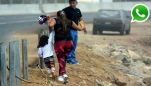 WhatsApp: así se arriesgan peatones para atravesar La Pampilla