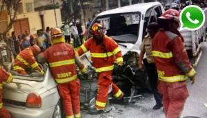 Choque entre camión y auto deja dos muertos en Av. La Molina