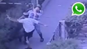 WhatsApp: desmayan a joven para robarle en plena vía pública