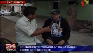 Caso Oropeza: 'Drákula' dice que la policía lo quiere matar