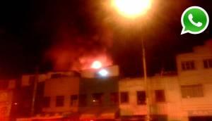 WhatsApp: incendio consumió viviendas en Gamarra (FOTOS)