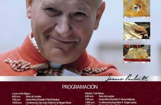 Reliquia de Juan Pablo II llegará a Lima este 4 y 5 de mayo