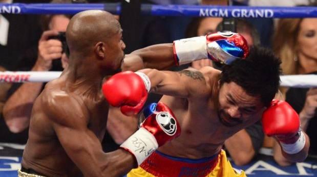 Floyd Mayweather venció a Manny Pacquiao en la pelea del siglo