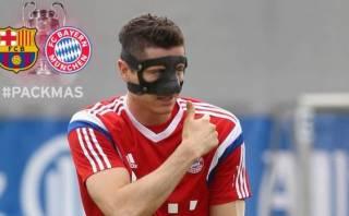 Bayern: Lewandowski entrena con máscara pero sigue en duda
