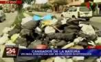 SMP: empresa de limpieza suspende recojo de basura por deuda