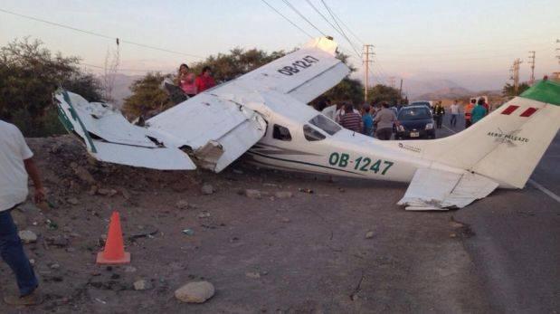 Nasca: seis heridos por caída de avioneta cerca de aeoródromo
