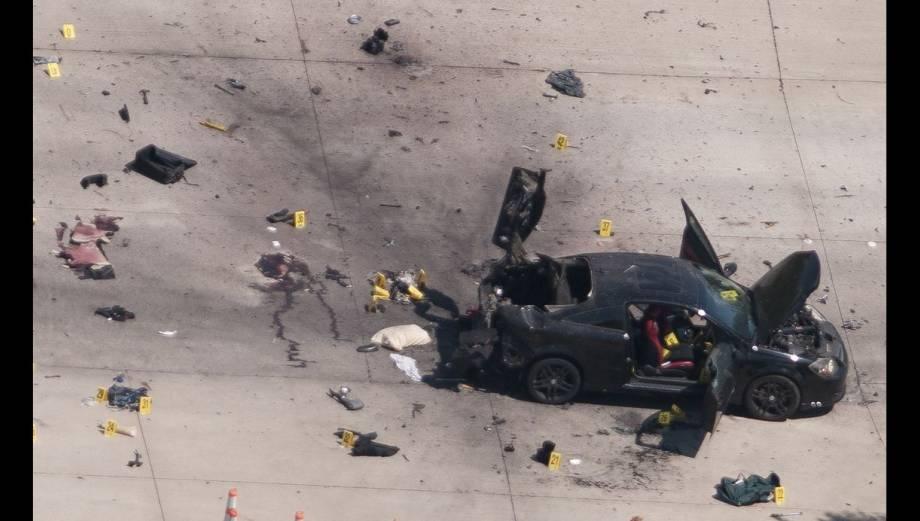 Texas: así quedó el carro de atacantes por dibujos de Mahoma
