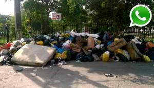 WhatsApp: así lucen calles por falta de recojo de basura en SMP