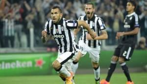 Juventus venció 2-1 al Real Madrid en Turín con gol de Tevez
