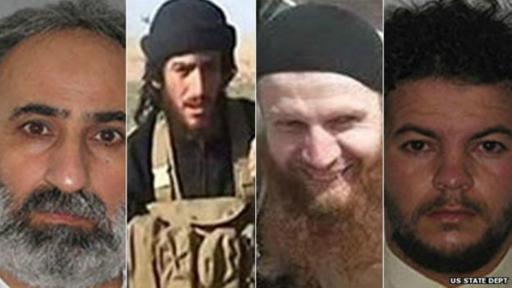 Estados Unidos publicó las fotografías de los que dice son los cuatro líderes de Estado Islámico.
